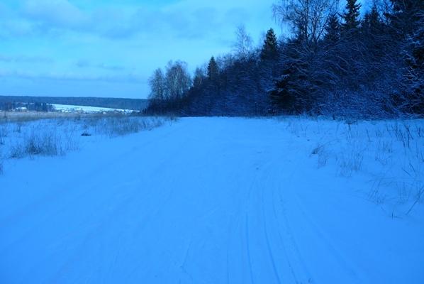Классическая лыжня проложена резаком