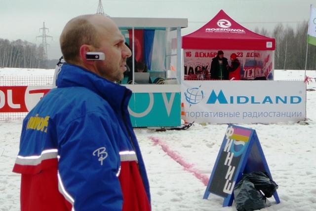 Василий Смольянов главнй судья Народного лыжного праздника