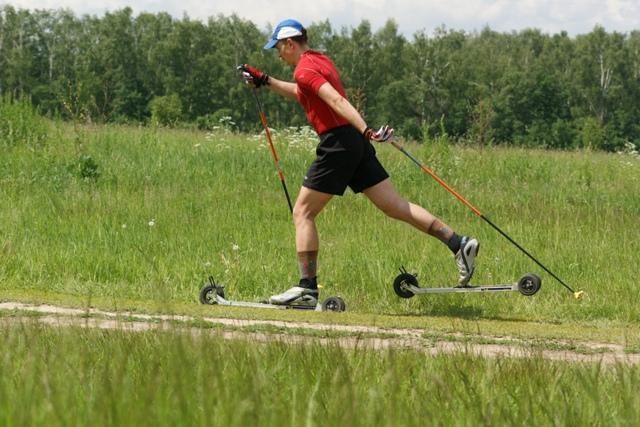 Александр проехал всю дистанцию Бицевского полумарафона на лыжероллерах для бездорожья Jenex V2 XL125RC