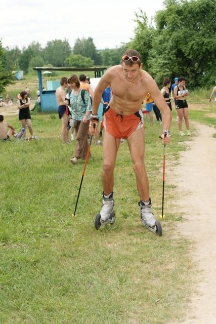 Тестирование коньковых лыжероллеров для бездорожья Jenex V2 XL150S Мастер спорта Илья Слепов