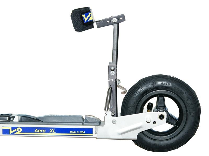 Лыжероллеры для бездорожья V2 Aero 150S Коньковые лыжероллеры с установленным тормозом и понижителем скорости.