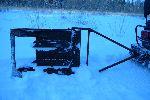 Резак (прокладчик лыжни) со снегоходом