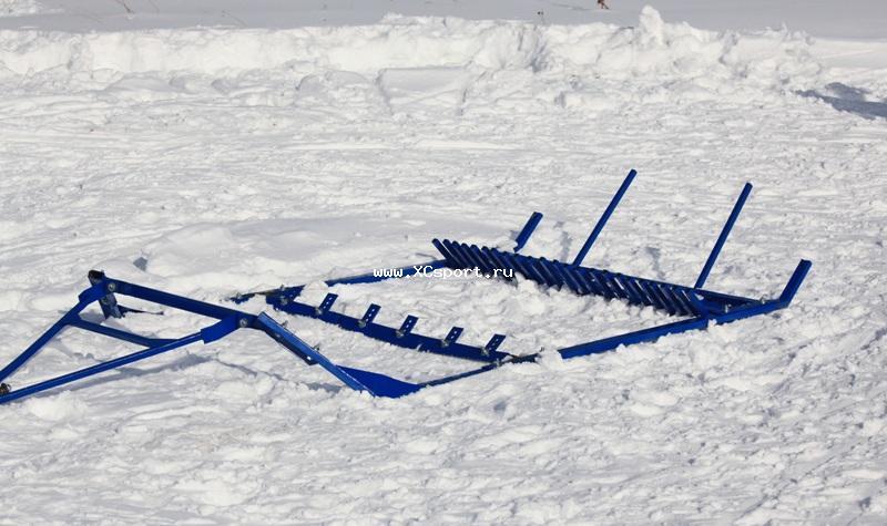 Борона для прокладки коньковой лыжни